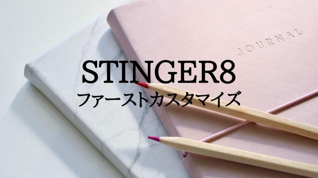 STINGER8 カスタマイズ